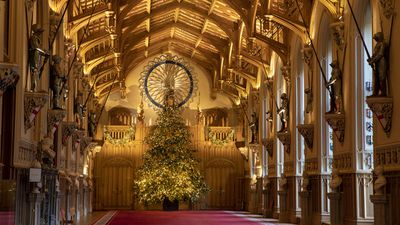 The Queen's Christmas trees, Windsor Castle