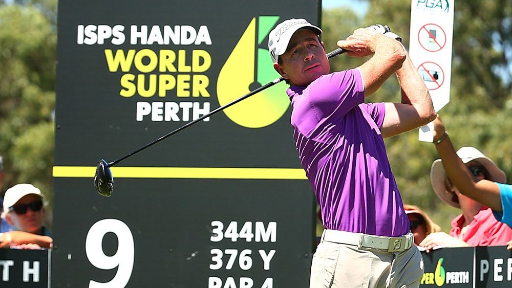 Brett Rumford in action in Perth. (Getty Images)