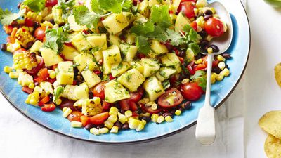"Recipe: <a href=""https://kitchen.nine.com.au/2017/11/14/12/49/spicy-mexican-mango-salad"" target=""_top"">Spicy Mexican mango salad</a>"
