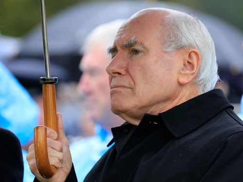 Former PM John Howard attends the Port Arthur massacre anniversary.