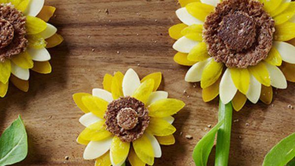 Busy bee sunflower sandwich