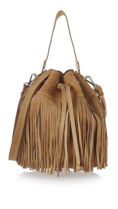 "<a href=""http://www.theoutnet.com/en-AU/product/Iris-and-Ink/Fringed-suede-shoulder-bag/612848"" target=""_blank"">Fringed Suede Shoulder Bag, approx. $277, Iris & Ink, theoutnet.com</a>"