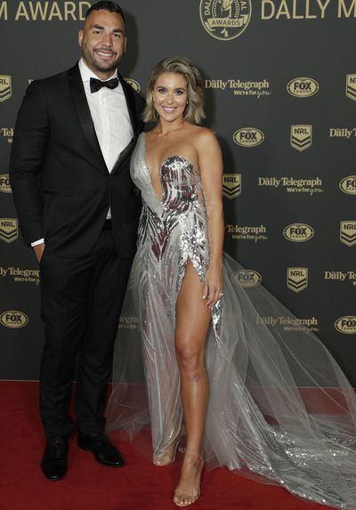 Ryan and Ana James at the 2019 Dally M Medal