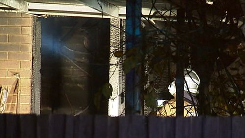 The fire is believed to have started at the front of the Clarinda home. (9NEWS)