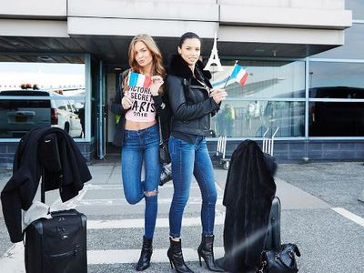 Check in and check out Josephine Skriver and Adriana Lima.