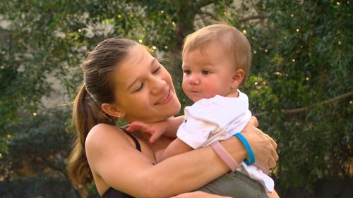Single mum Harmony Murrel with her son.