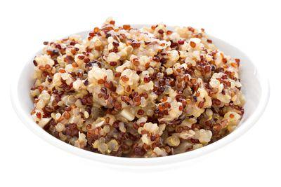 Quinoa: 1/2 cup has 20g carbs, 3g fibre, 111 calories