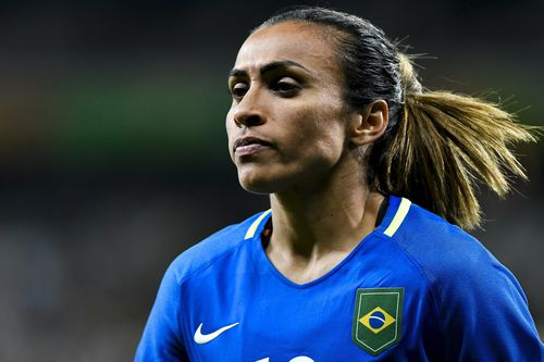 It also could mean that she faces Brazil's Marta - widely considered to be the best female player in the world - at the Tournament of Nations. Picture: AAP.