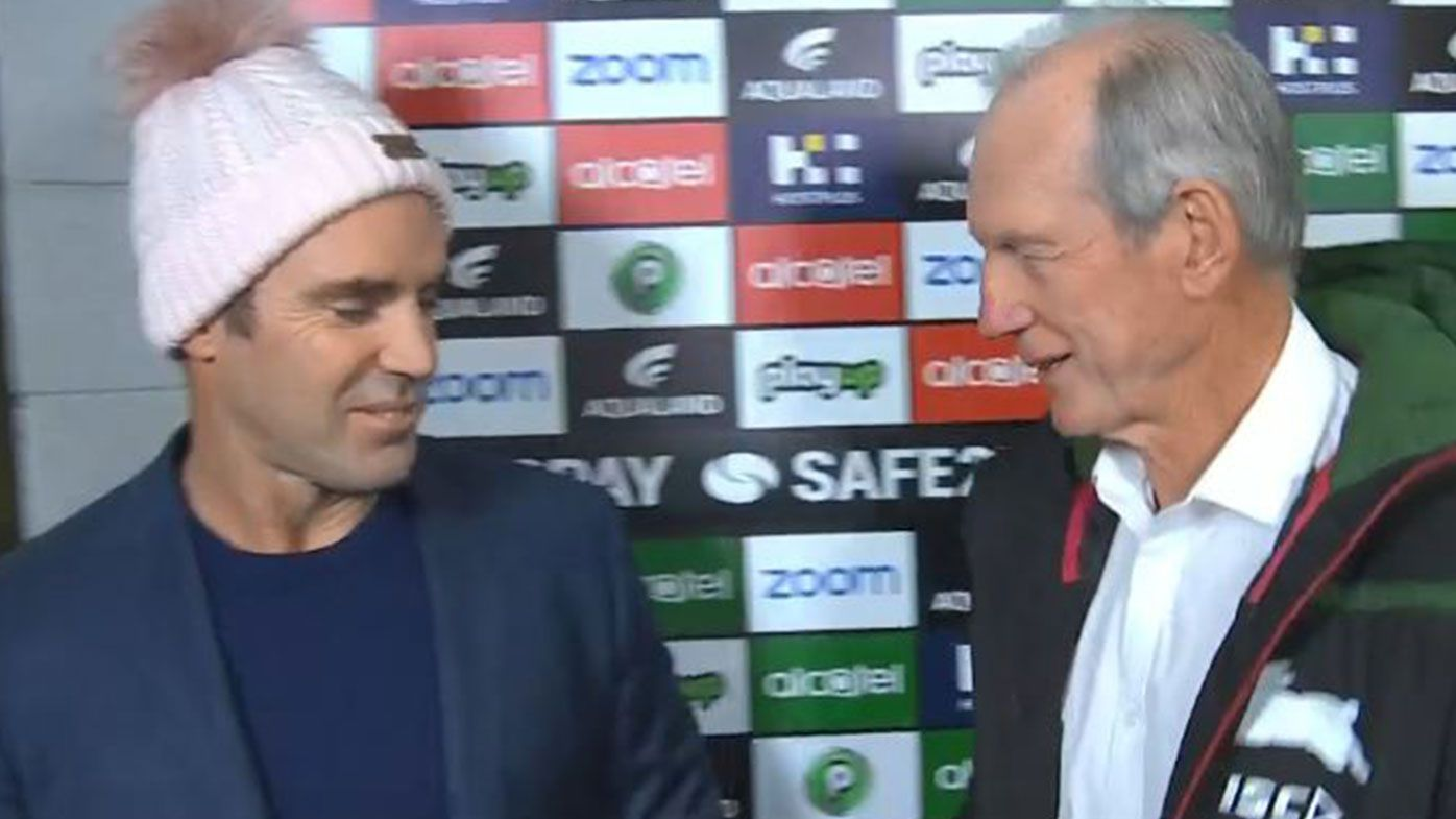 Wayne Bennett brutally leaves Brad Fittler handshake offer hanging in post-game chat