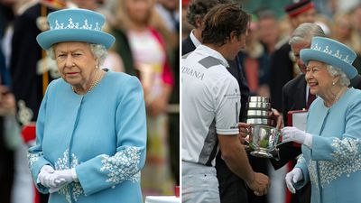 Queen Elizabeth attends the Cartier Queen's Cup, June 2018