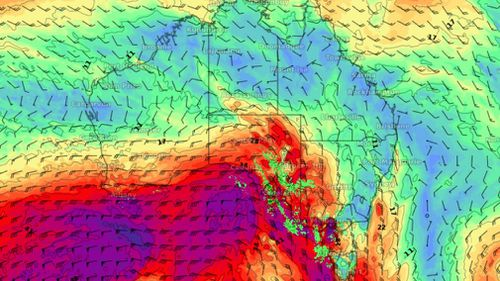 The wild winds are expected to hit Adelaide first, before lashing Melbourne. Graphic: WeatherZone