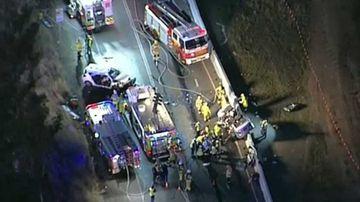 A crash at Luddenham has shut the Northern Road.