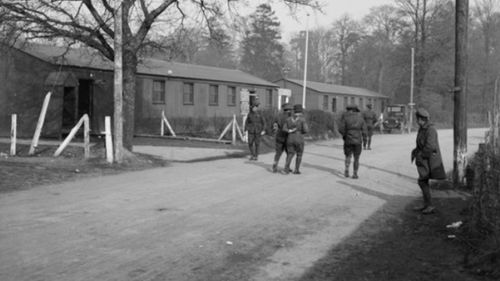 Hurdcott Camp in Wiltshire, southern England. Australian soldiers were based here in 1916 to 1918. (Australian War Memorial).