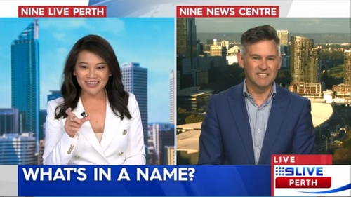 The mayor struggled with the Aboriginal title on 9 Live Perth.