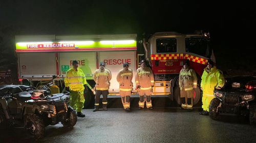 NSW Police, NSW Ambulance, and Fire and Rescue NSW (pictured) searched for the group.