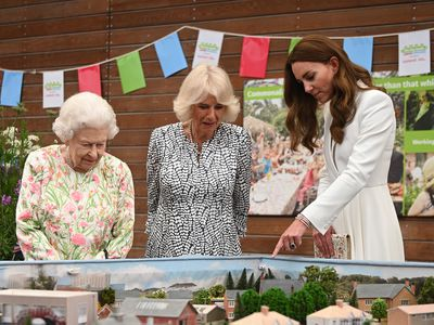 Queen Elizabeth II, Camilla, Duchess of Cornwall and Kate Middleton