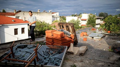 Witnesses to the wild weather in Greece described violent winds and torrential rain.