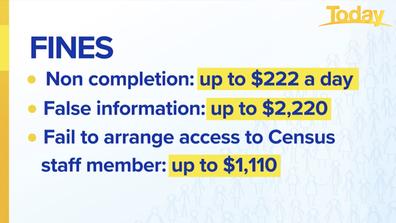 Census fines broken down.