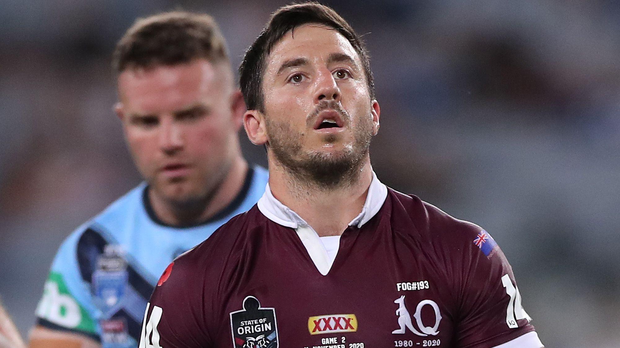 A dejected Ben Hunt during Queensland's Origin II loss.