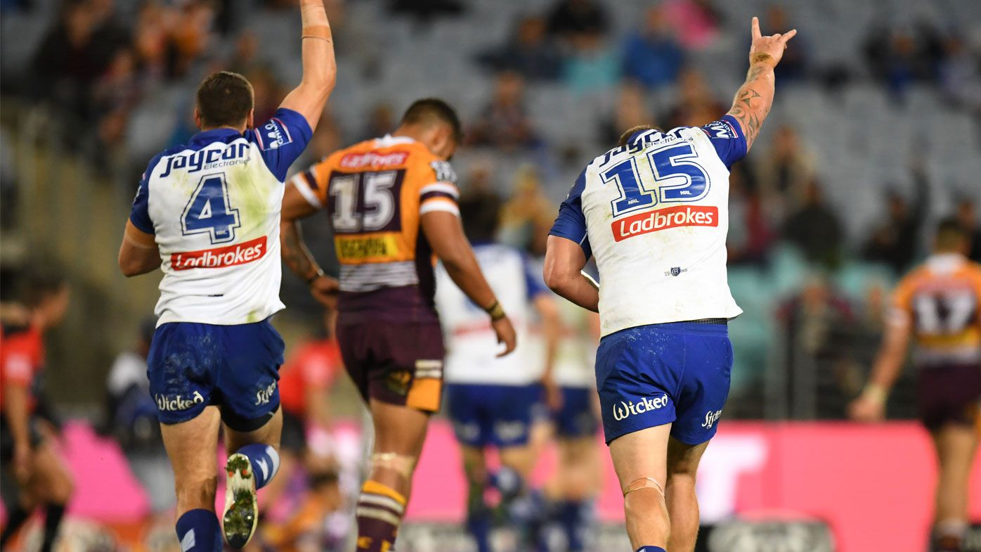 Dogs deliver NRL top-four blow to Broncos