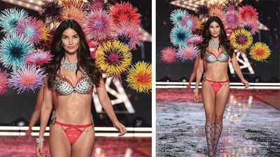 Angel Lily Aldridge opened the 'Fireworks' theme part of the night. (Instagram)