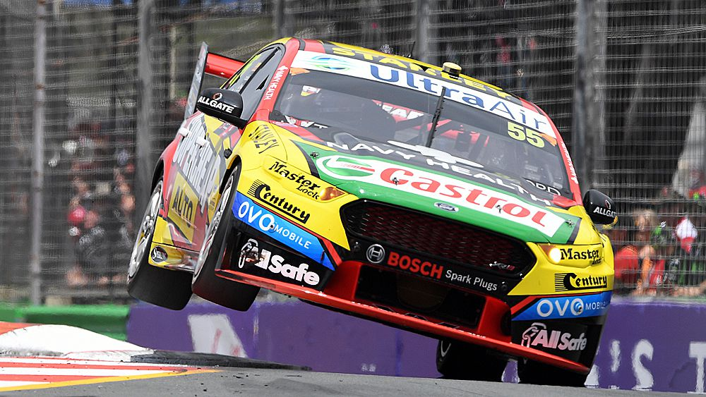 Supercars Gold Coast 600: Ford's Chaz Mostert wins title in wet conditions