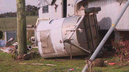 In Meadow Flat, north of Bathurst, Scott McKinnon's granny flat stood no chance when a tornado barreled through.