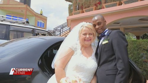 Suzie even went as far as travelling to Uganda and marrying a man she met online. (A Current Affair)
