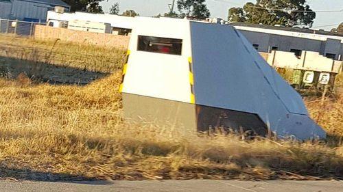 Sinister-looking speed camera beside WA highway