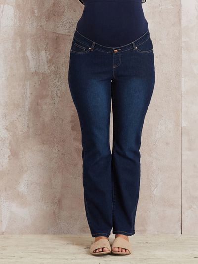 "<a href=""https://www.crossroads.com.au/shop/bootcut-maternity-denim/p/00124464_411"" target=""_blank"" draggable=""false"">Crossroads Bootcut Maternity Jeans, $44.95.</a>"