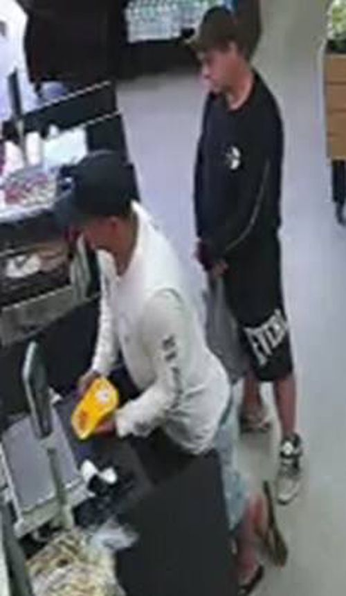 Police are searching for the two men as part of the fraud investigation. (Supplied)