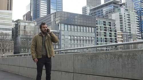 Melbourne got a taste of Hollywood when 'The Leftovers' (star Justin Theroux pictured in the CBD) came to town.