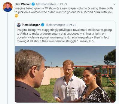 Piers Morgan and Dan Walker's Twitter war