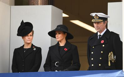 Queen Elizabeth Kate Middleton Meghan Markle and royals attend Remembrance Sunday
