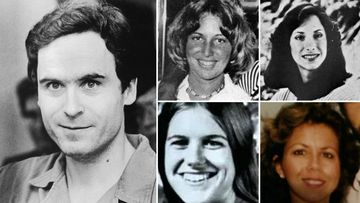 Ted Bundy and four of the Chi Omega sorority sisters he attacked at Florida State University