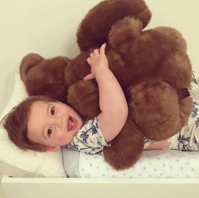 Baby Theodore is having the best summer break ever. Possibly teddy is too. Bless'm.