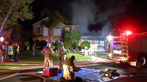 The 44-year-old dad tried to extinguish the blaze but sustained serious burns to his hands and feet.
