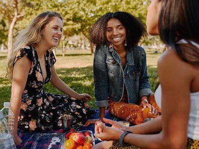 Female friends enjoying picnic