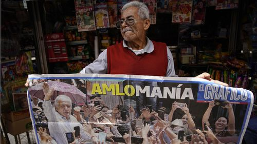 Mr Lopez Obrador appears well liked by his people. Picture: AP