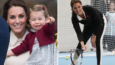 "Princess Charlotte is ""a natural tennis player"", December 2017"