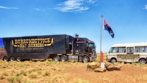 The Burrumbuttock Hay Runners deliver truckloads of hay to drought-striken farmers on their annual hay run.
