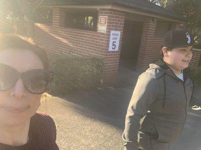 Jo and Gio walking