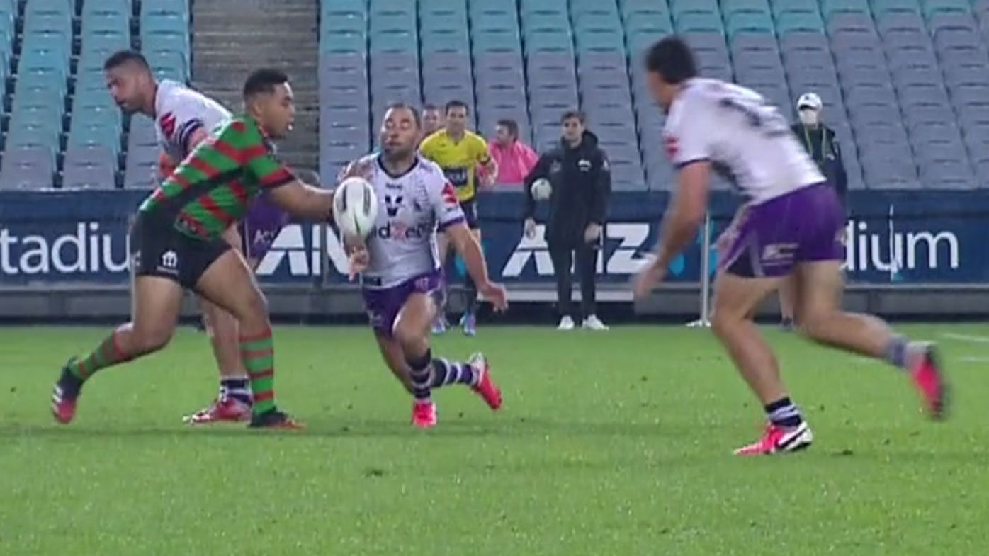 Cam Smith throws a contentious pass. (Nine)