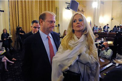 Whoops! Michaele Salahi and husband Tareq gained instant notoriety as the worlds most infamous gatecrashers when they talked their way into the Whitehouse and through the Secret Service, for Obama's first state dinner in 2009.  An lenghty investigation followed looking into the security breach, and not surprisingly, the couple filed for divorce in 2011.