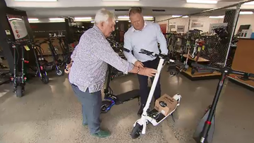 A Queensland pensioner has been the recipient of a very generous act of kindness, following his $3000 electric scooter being stolen right in front of him in broad daylight.