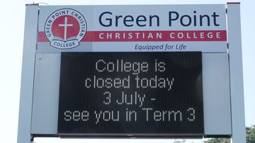 Students and staff at Green Point Christian College were sent home following a coronavirus scare.