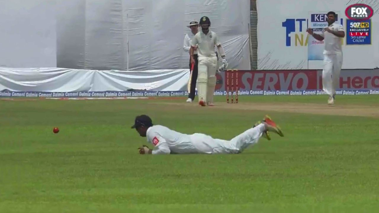 Gunaratne drops catch and breaks hand