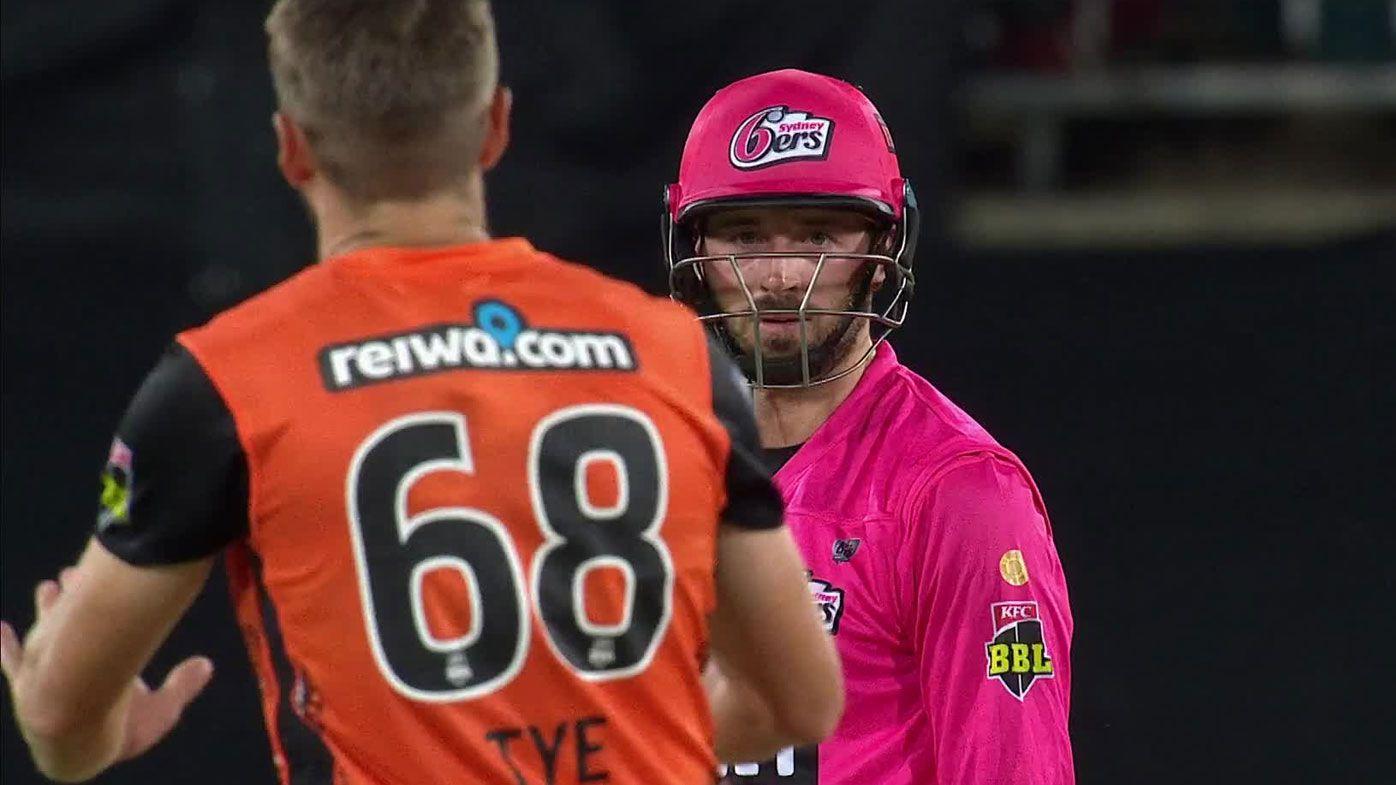 Sydney Sixers batsman James Vince left stranded on 98 after Andrew Tye bowls the unthinkable