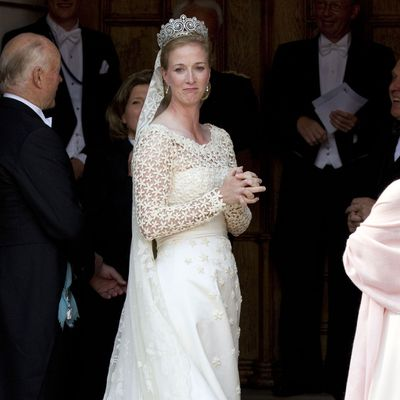 Danish royal Princess Nathalie forgot her bouquet