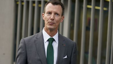 Denmark's Prince Joachim walks to work, at the Danish Embassy in Paris, France on Friday, September 18, 2020